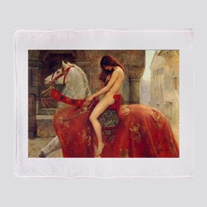 John Collier Lady Godiva Throw Blanket