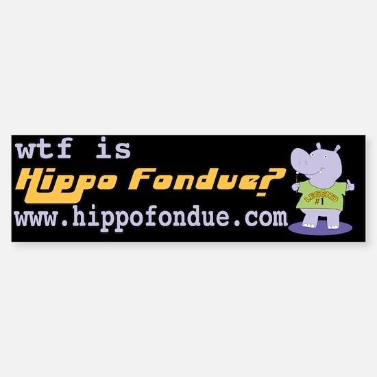 Hippo Fondue Bumper Bumper Bumper Sticker