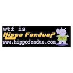 Hippo Fondue Bumper Sticker