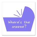 """Baby Snooze Button Square Car Magnet 3"""" x 3"""""""