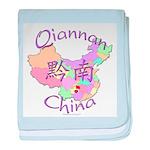 Qiannan China Map baby blanket