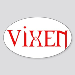 Red Vixen Oval Sticker