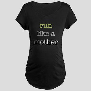 Run Like a Mother Maternity Dark T-Shirt