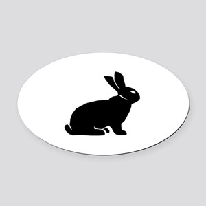 Rabbit Oval Car Magnet