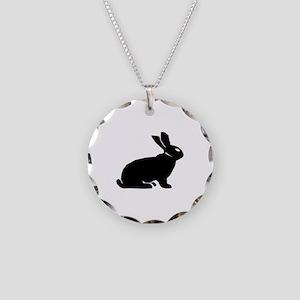 Rabbit Necklace Circle Charm