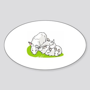 Rabbit Sticker (Oval)