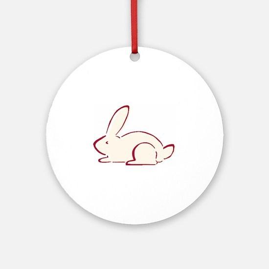 Rabbit Ornament (Round)