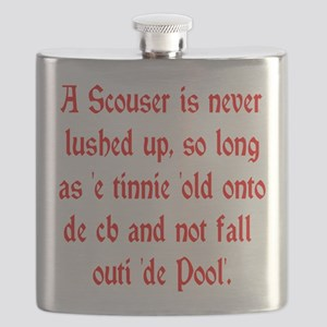 Scouser Lushed Up Red Flask
