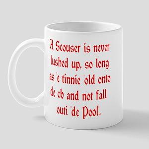 Scouser Lushed Up Red Left Mug