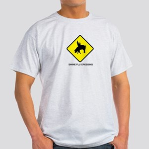 Swine Flu Crossing Sign 01 T-Shirt