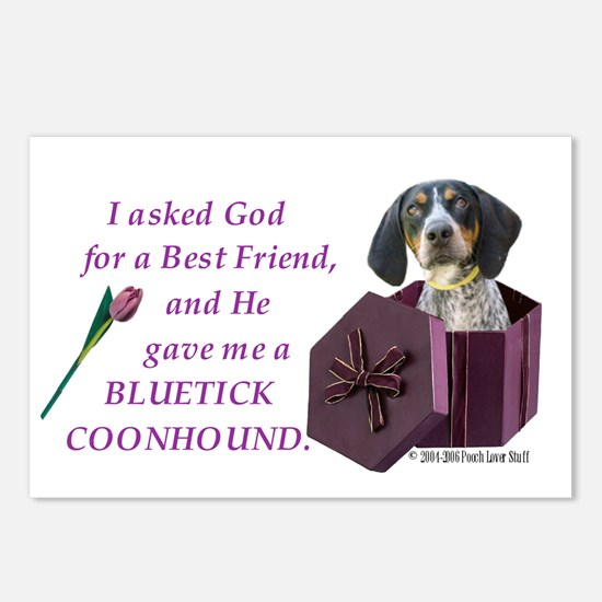 Bluetick Coonhound Postcards (Package of 8)
