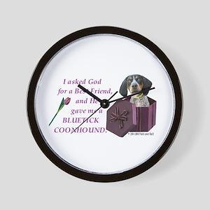 Bluetick Coonhound Wall Clock