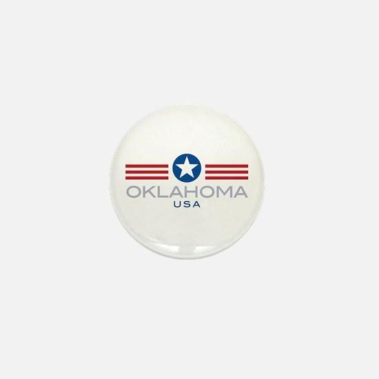 Oklahoma-Star Stripes: Mini Button