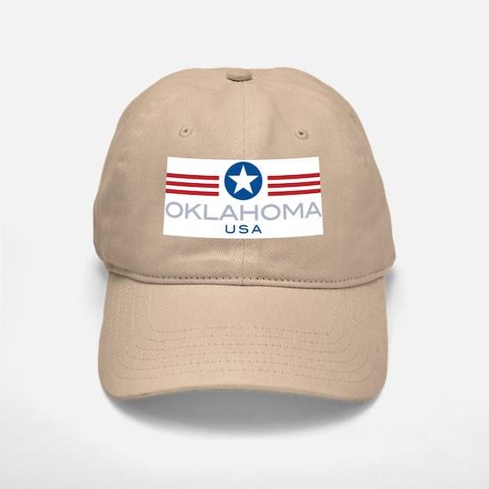 Oklahoma-Star Stripes: Baseball Baseball Cap