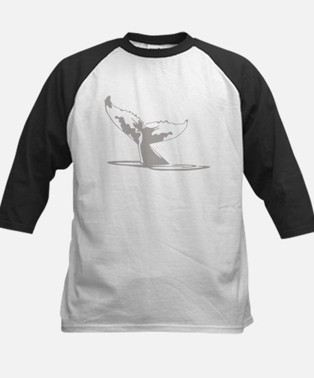 Humpback Whale Tail Kids Baseball Jersey