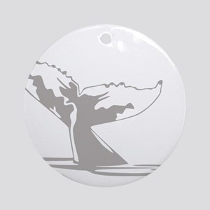 Humpback Whale Tail Ornament (Round)