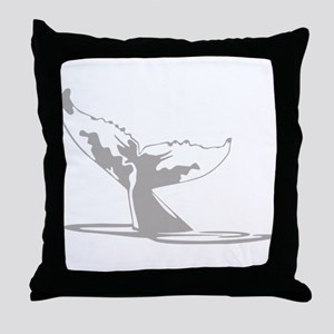Humpback Whale Tail Throw Pillow