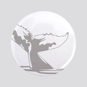 "Humpback Whale Tail 3.5"" Button"