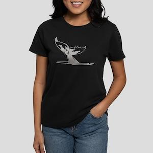 Humpback Whale Tail Women's Dark T-Shirt