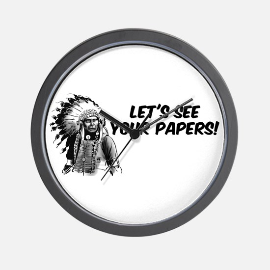Lets see your papers Wall Clock