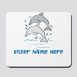 Personalized Dolphins Mousepad