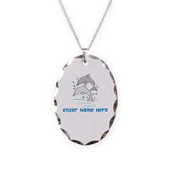 Personalized Dolphins Necklace