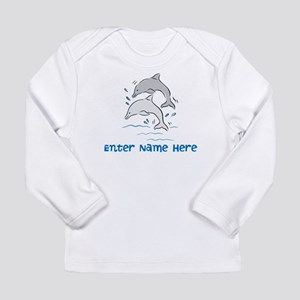 Personalized Dolphins Long Sleeve Infant T-Shirt