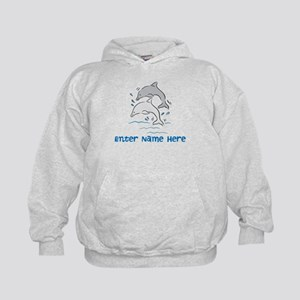 Personalized Dolphins Kids Hoodie