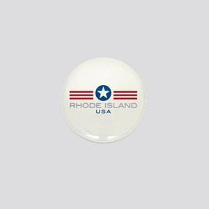 Rhode Island-Star Stripes: Mini Button