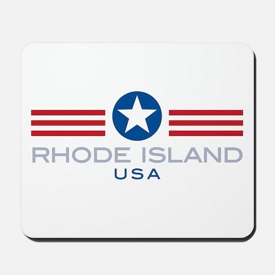 Rhode Island-Star Stripes: Mousepad