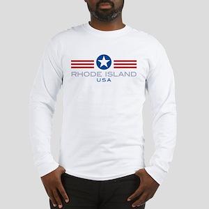 Rhode Island-Star Stripes: Long Sleeve T-Shirt