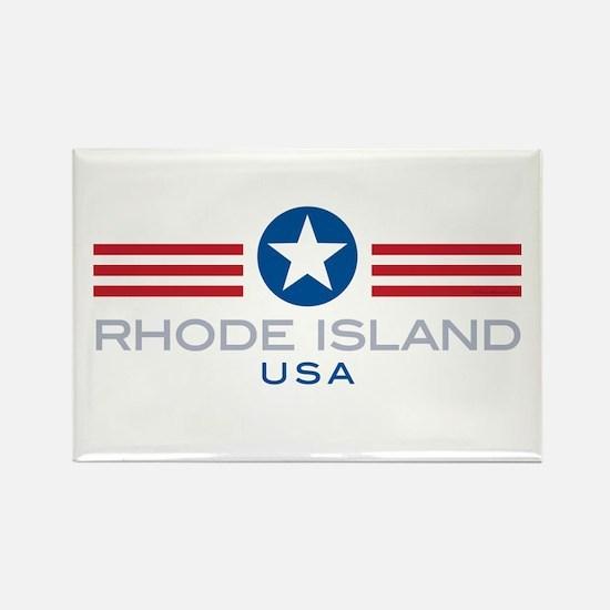 Rhode Island-Star Stripes: Rectangle Magnet