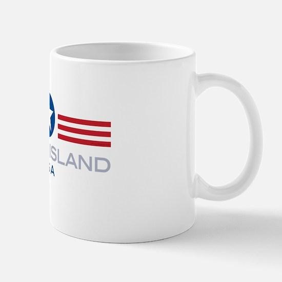 Rhode Island-Star Stripes: Mug