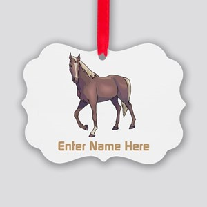 Personalized Horse Picture Ornament