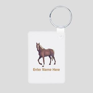 Personalized Horse Aluminum Photo Keychain