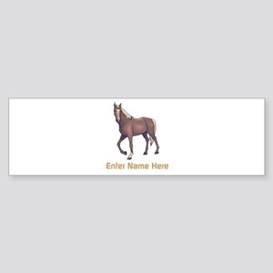 Personalized Horse Sticker (Bumper)