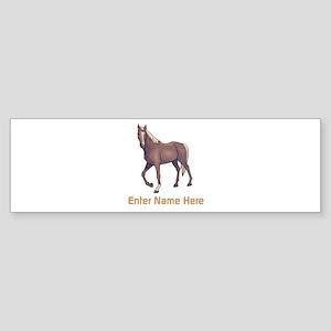 Personalized Horse Sticker (Bumper)