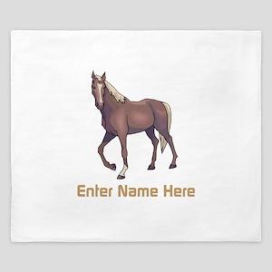 Personalized Horse King Duvet