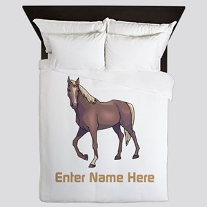 Personalized Horse Queen Duvet