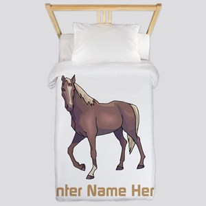 Personalized Horse Twin Duvet