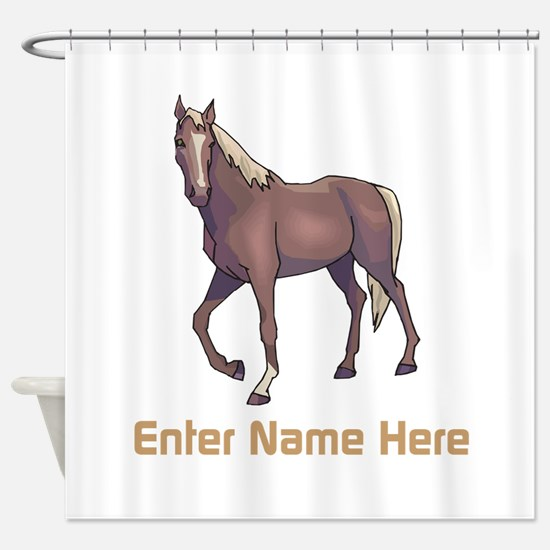 Personalized Horse Shower Curtain