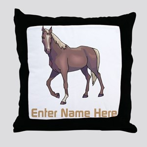 Personalized Horse Throw Pillow