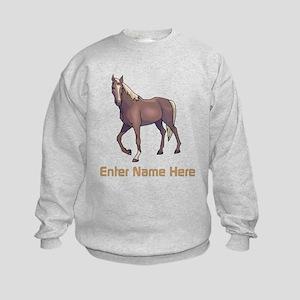 Personalized Horse Kids Sweatshirt