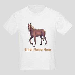 Personalized Horse Kids Light T-Shirt