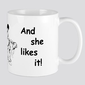 """Daddy Spanks Mommy and she likes it! Mug"