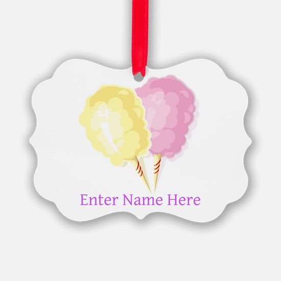 Personalized Cotton Candy Ornament