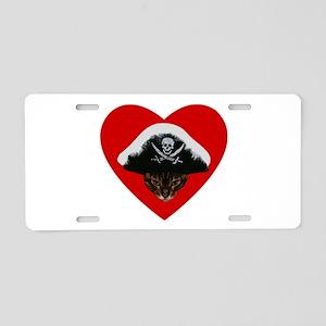 Love Pirate Cat Aluminum License Plate