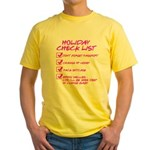 Holiday Check List Yellow T-Shirt