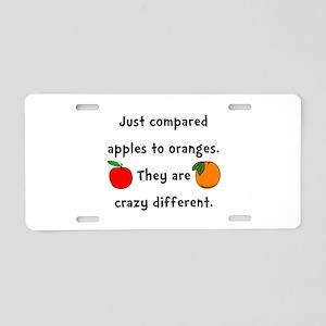Apples Oranges Aluminum License Plate