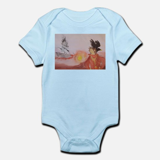 The Dark Tower Watercolor Painting Infant Bodysuit